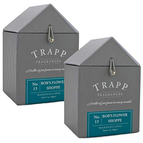 Trapp Signature Home Collection No. 13 Bob's Flower Shoppe Poured Scented Candle, 7oz (Set of 2)