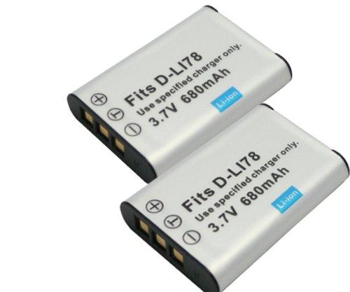【JC】2個セット PENTAX/ペンタックス D-LI78 互換バッテリー Optio W60 W80 対応