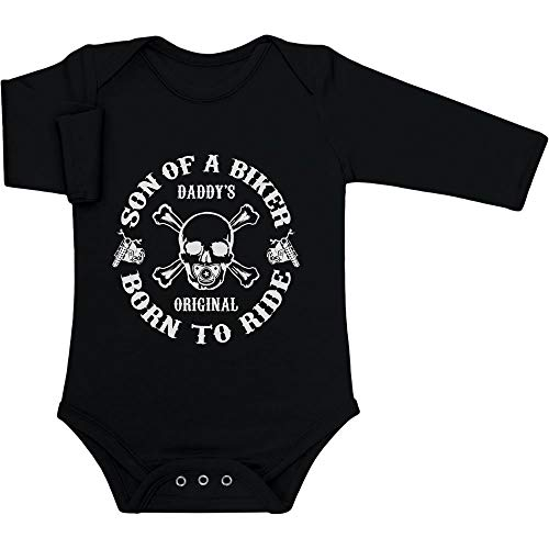 Daddy's Original - Son of a Biker Baby Langarm Body 62/68 (3-6M) Schwarz