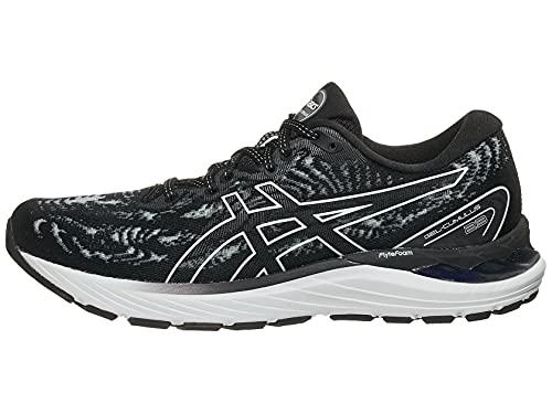 ASICS Women's Gel-Cumulus 23 Running Shoes, 8.5M, Black/White