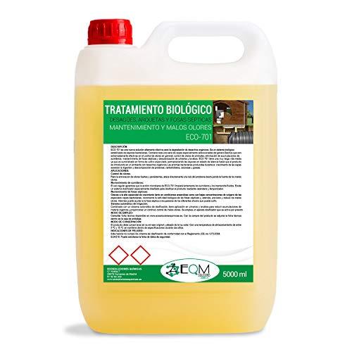 Ecosoluciones Químicas ECO 701-5 litros -Tratamiento biológico fosas sépticas. 100% ecológico