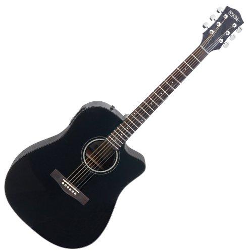 Rocktile D-60CE Cutaway - Guitarra electroacústica, color negro