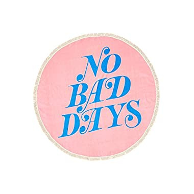 ban.do Women's All Around Giant Circle Beach Towel (no bad days)