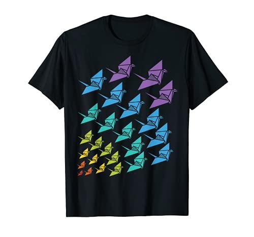 Grullas de origami Regalo artesanal de grulla de origami Camiseta