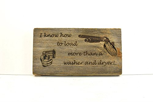 Norma Lily Laden Waschmaschine Türschild Holz Schild