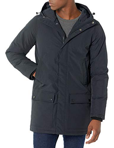 Amazon Essentials Men's Long-Sleeve Water-Resistant Hooded Insulated Coat, Black, X-Large