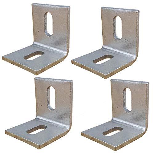 4 PCS Heave Duty Corner Brace, 50x50mm hoekijzer Joint Haaks Brackets met schroeven, 90 graden Muur Beugels Hanger voor Planken, Tafels, Kasten en stoelen Silver