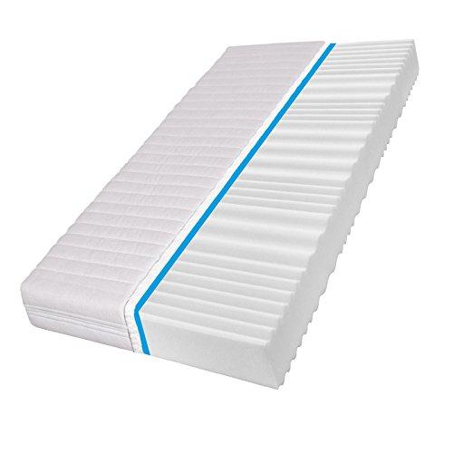 7Zone freddo schiuma Comfort Pur Wellness–Materasso a 7Zone + Dimensioni A SCELTA, larghezza x lunghezza: 70cm x 140cm (altezza 11cm)