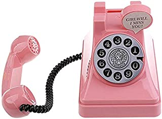 Retro Telephone Piggy Bank Vintage Stimulation Phone Coin Bank Money Box Novelty Saving Box Money Pot Children's Box Home ...