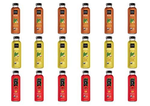 LUV BOX- Variety Pure Leaf Tea House Pack 14oz Glass Bottle, 12ct,Passionfruit & Pineapple Hibiscus, Tea Sicilian Lemon Honeysuckle,Green Tea Fuji Apple Ginger