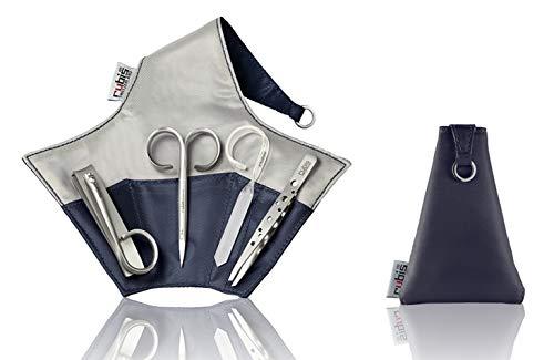 Rubis Minuit Set - Nagelpflegeset in Neoprenhülle - Maniküre Set mit Pinzette, Nagelknipser, Nagelschere, Nagelpfeile - Nagelset
