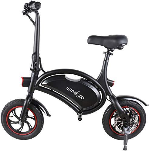 Windgoo Elektroroller, Elektro Scooter mit 350W Motor/6.0 Ah Batterie, Höchstgeschwindigkeit 25Km/h/Maximale Belastung 120kg, klappbar E Scooter (schwarz)