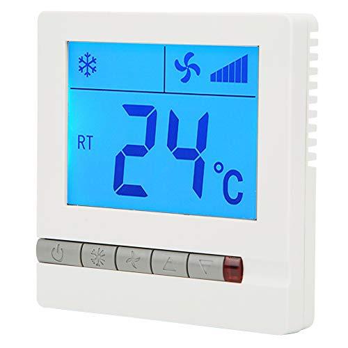 Termostato Unidad de bobina de ventilador Termostato Termostato digital Termostato de aire acondicionado Termostato programable para calefacción Velocidad del viento Refrigeración