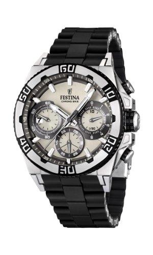 Festina Herren-Armbanduhr XL Tourchrono 2013 Chronograph Quarz Verschiedene Materialien F16659/1