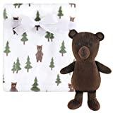 Hudson Baby Unisex Baby Plush Blanket with Toy, Forest Bear, One Size