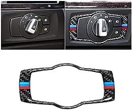 For BMW E90 E92 E93 2008-2012 325i 328i 335i 3 Series Interior Carbon Fiber Headlight Switch Buttons Cover Trim Car Styling Stickers (With 3 Colors)