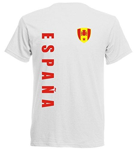 Spanien EM 2016 T-Shirt Trikot - Übergröße 3XL - 5XL - weiss 10 (4XL)