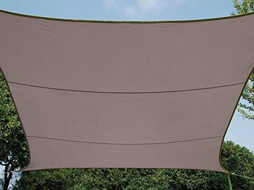 Perel GSS4320TA Sonnensegel - Rechteckig, Braungrau, 200 x 300 x 0,2 cm