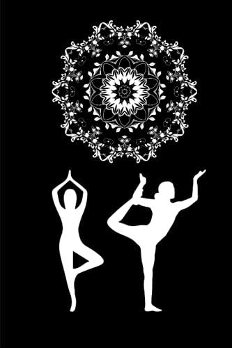 Mandala Yoga Spirit Journal: black and white with lotus flower on back cover