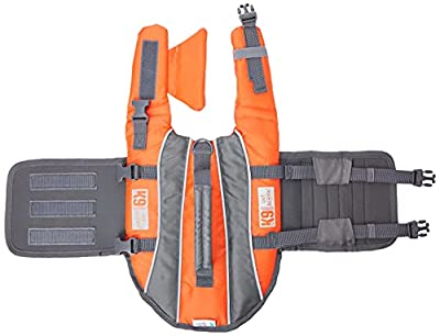 K9 Pursuits High Visibility Easy Grab Float Coat Life Jacket, Small