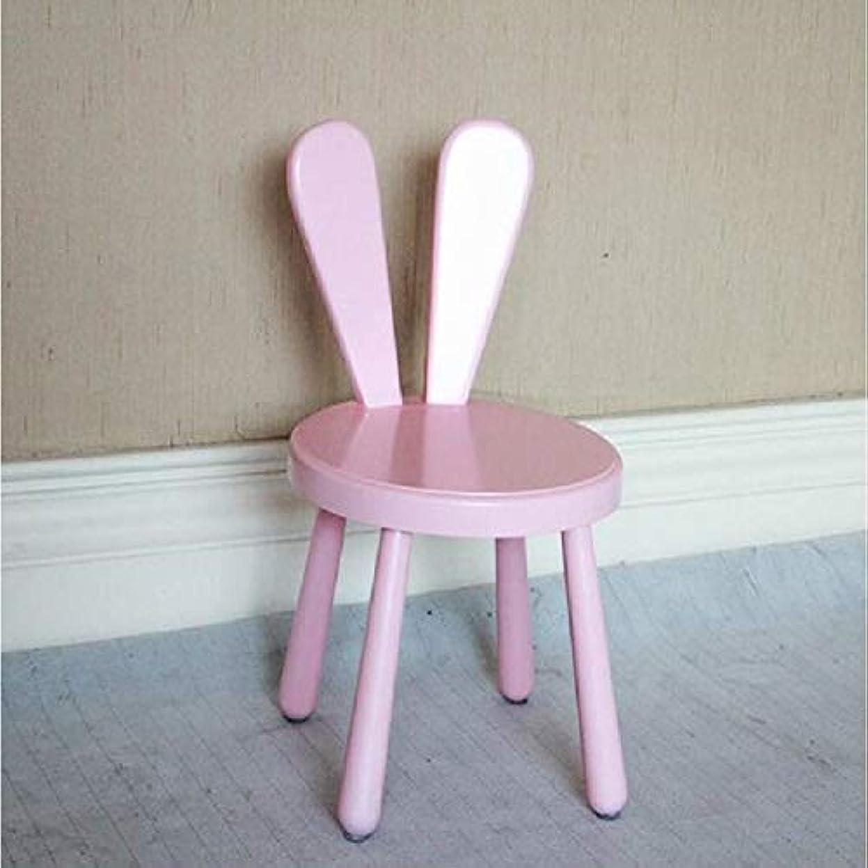 ゴールドアンタゴニスト剪断YZshell クリエイティブ幼稚園子供純木小さなベンチ背もたれかわいいスツール 用 (色 : ピンク)