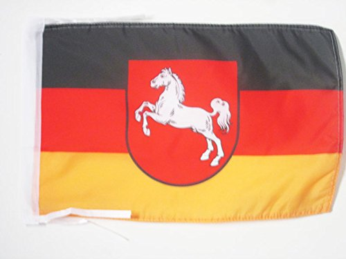 AZ FLAG Flagge Niedersachsen 45x30cm mit Kordel - Niedersachsen Fahne 30 x 45 cm - flaggen Top Qualität