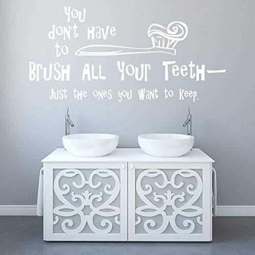 Tianpengyuanshuai borstelstickers, grappige tandenborstel, vinyl, ramen, zelfklevend, voor kinderen, slaapkamer, badkamer, decoratie, huis, waterdicht, 57 x 116 cm