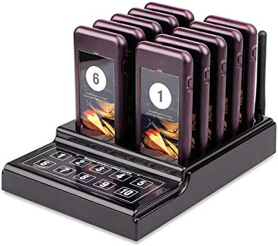 Pagers 10 Channels Long Range Pager System Coaster Pager System ...