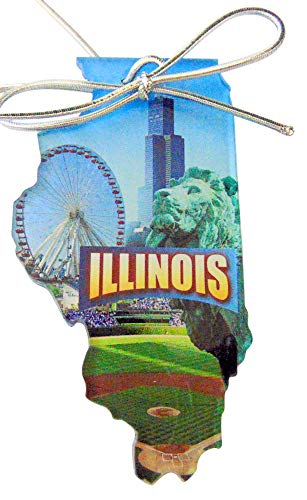 Westman Works Illinois Christmas Ornament Acrylic State Shaped Decoration Boxed Gift Made in The USA