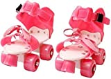 AUTHFORT Roller Skates for Girls Age Group 7-12 Years Adjustable Inline Skating Shoes with School...