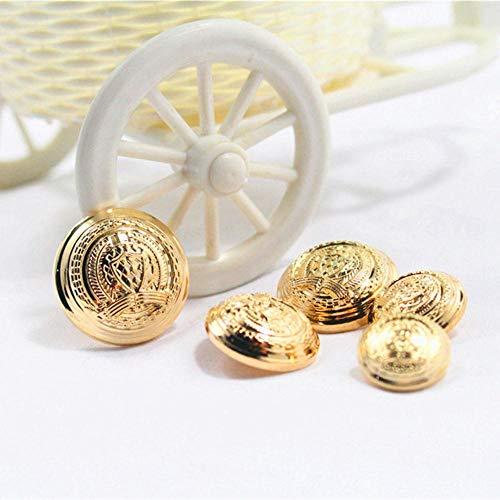 Gratis verzending, 10 STKS gouden kroon diameter van 13mm-25mm gouden metalen knoppen, kledingaccessoires, shirt, jas merkknopen, T9, antiek messing, 13mm