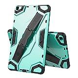 ZHIWEI Tablet PC Bolsas Bandolera Tablet Funda para Samsung Galaxy Tab A8.0 2019 T295-T290, TPU + PC Funda Protectora multifunción a Prueba de Golpes con asteroide Plegable (Color : Green)