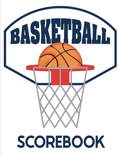 Basketball Scorebook: Coach Notebook, Basketball Game Book, White cover