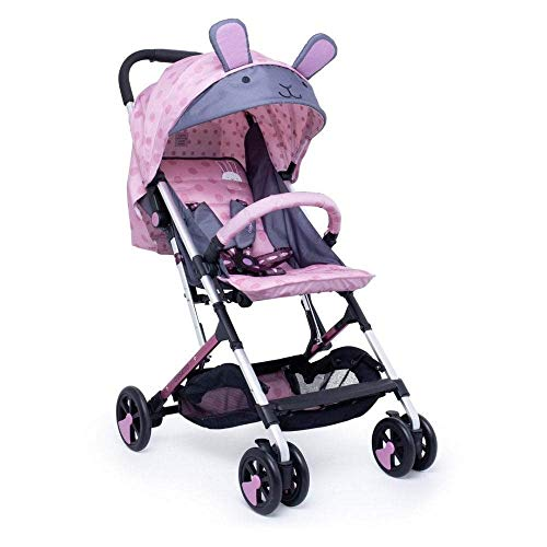 Cosatto Woosh 2 Pushchair – Ultra Lightweight Stroller From Birth to 25kg | One Hand Easy Fold, Compact (Bunny Buddy)