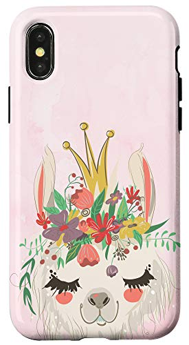 iPhone X/XS Llama Watercolor Pink Phone Cover Case