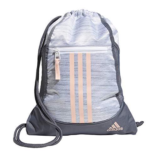 adidas Unisex Alliance II Sackpack, White/Onix/Haze Coral, OSFA