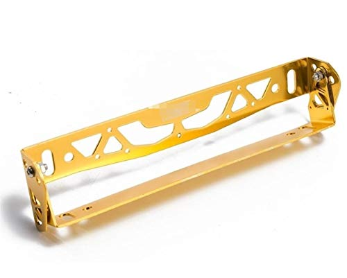 NO LOGO WSF-car accessories, 1pc Car-Styling Aluminum Adjustable Racing License Plate Frame Tag Holder For BMW For Ford For Honda Ect (Color : Gold)