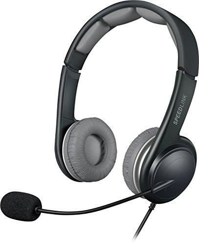 Speedlink SONID Stereo Headset - komfortables Tragegefühl - Stereo Sound für PC/Computer/Notebook, schwarz-grau