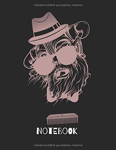 Notebook: Notizbuch A4 5x5mm Kariert 120 Seiten Cool Bart Monster Affe Notizbuch Geschenkidee oder Weihnachtsgeschenk
