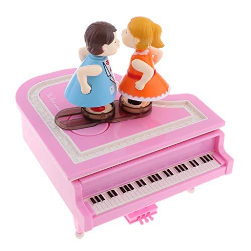 Homyl Boîte à Musique Souvenir Vintage Cadeau Créatif - Piano - Rose