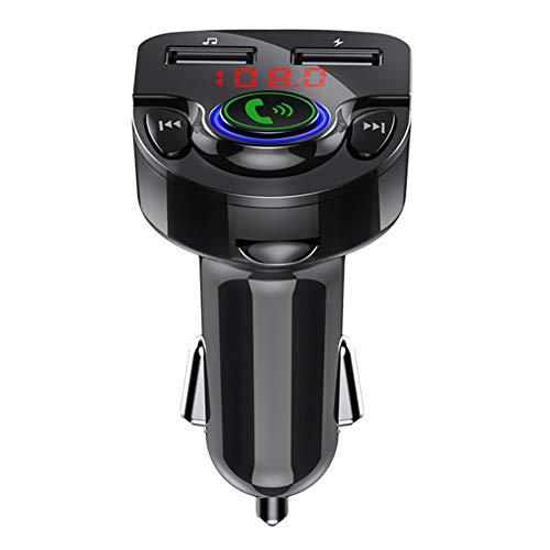 Reproductor de MP3 para automóvil Inalámbrico en el automóvil Bluetooth FM Manos libres Tarjeta de memoria Reproductor de MP3 A2DP ABS G32 12-24V Accesorio para automóvil(negro)