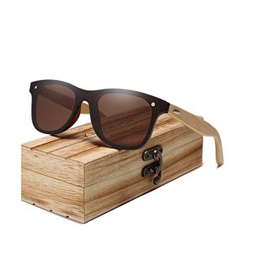 Hengtaichang Sunglasses NEW Polarized Sunglasses Men Wooden Sun Glasses Women Brand Original Wood Glasses Oculos De Sol Masculino Brown bamboo