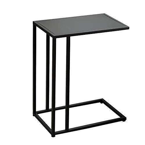 Étagère Peaceip Nordic Fer Forgé Mini Table Basse Noir Salon Créatif Canapé Côté Cabinet Table De Chevet Table d'angle