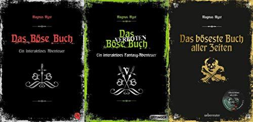 Die bösen Bücher in 3 Bänden + 1 exklusives Postkartenset