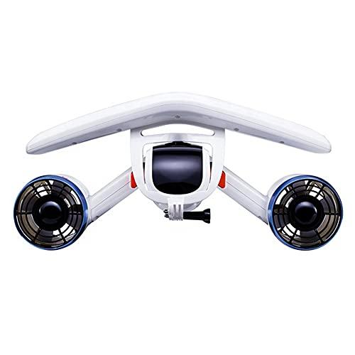 Nwanfeng Amplificador de Scooter subacuático, con propulsores portátiles de Doble hélice para bucear, Nadar, esnórquel con Soporte para cámara Deportiva para Aventuras y perseguir Peces