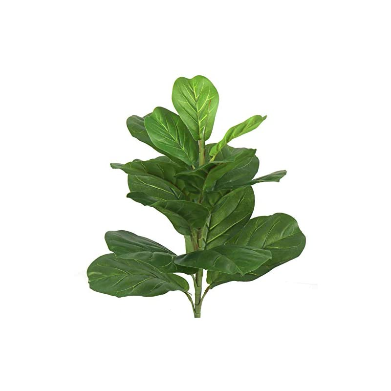 """silk flower arrangements beebel artificial plants 20"""" tall fiddle leaf fig tree tropical realistic fake plant indoor outdoor uv resistant faux ficus lyrata for home décor"""