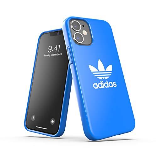 adidas Custodia progettata per iPhone 12 Mini 5.4, custodia testata, bordi rialzati antiurto originale, colore: blu