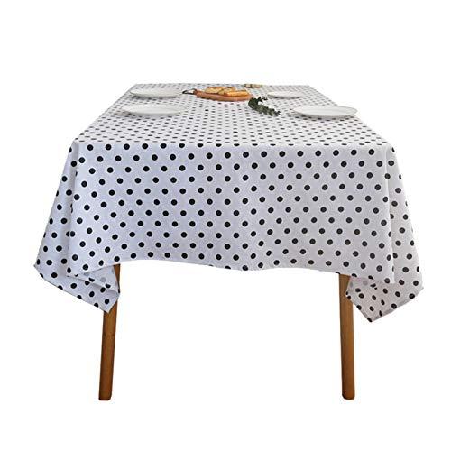 WHDJ Mantel de Mezcla de algodón Mantel de símbolos Elegantes Rectángulo Manteles Suaves Antiarrugas Mesa de Centro para el hogar y Cubierta de Mesa para Horno microondas