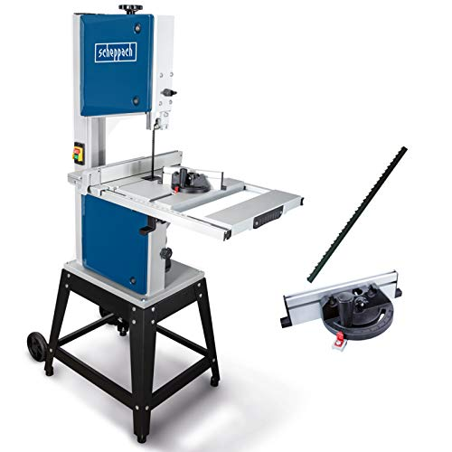 Scheppach HBS400 Bandsäge 315 mm mit Ersatzsägeband und Querschneidlehre, 230 Volt, Motorleistung 750 Watt, max. Durchlasshöhe 170 mm, max. Durchlassbreite 305 mm