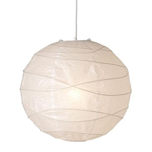 bobotron Pantalla de lámpara colgante, blanco, papel, 45 x 45 x 45 cm